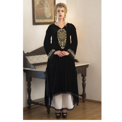 Black and White Formal salwar style Dress