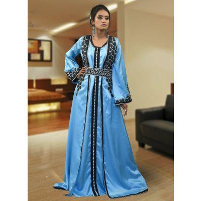 Firoji Color Moroccan Style Kaftan