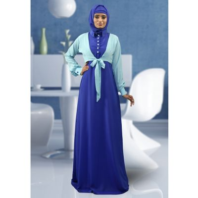 Formal Abaya Aqua Blue Color Dress
