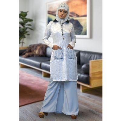 Pocket Style White Color Abaya