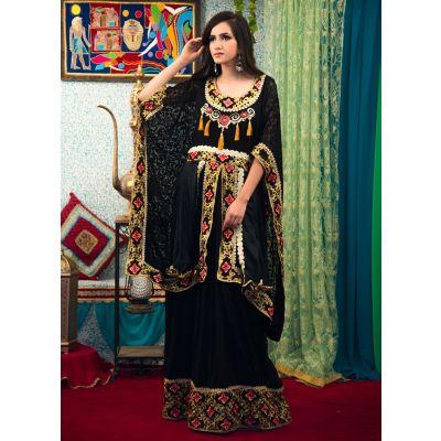 Black Color Arabian Design Style Kaftan