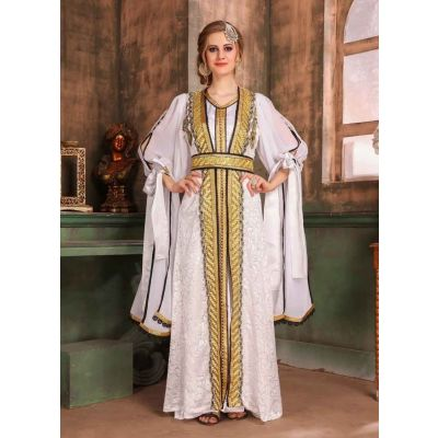 White color Kaftan-Brasso Kaftan