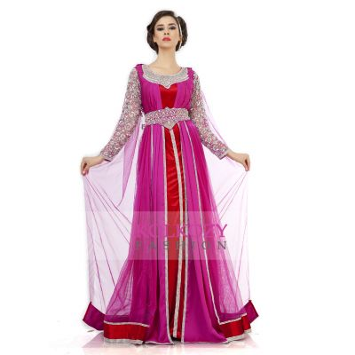 Smart Pink Embroidered Wedding Kaftan