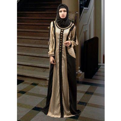 Arabian Design Full Sleeve Black and Beige