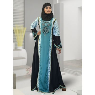 Muslim Evening Black Color Abaya