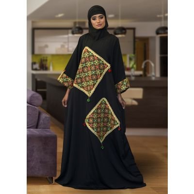 Modest Muslim Black ColorEvening Caftan