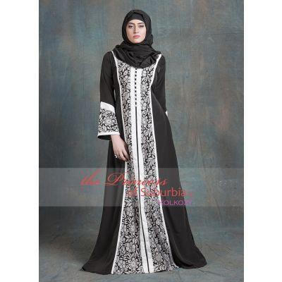 Black and White Color Formal Party Wear Dress