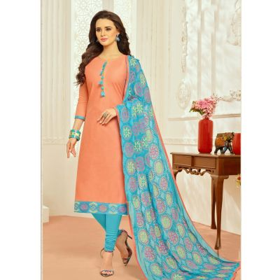 Orange color Casual Salwar Kameez-Cotton Salwar Kameez