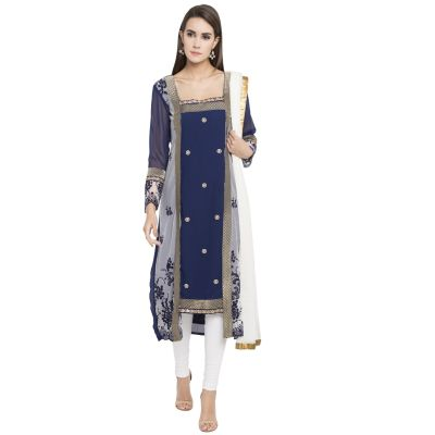 Blue color Party Wear Rmd Salwar-Georgette Salwar Kameez