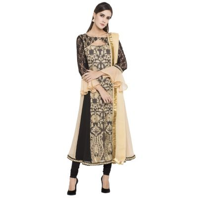 Beige color Party Wear Rmd Salwar-Georgette Salwar Kameez