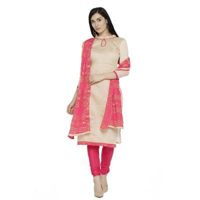 Beige color Casual Salwar Kameez-Silk Salwar Kameez