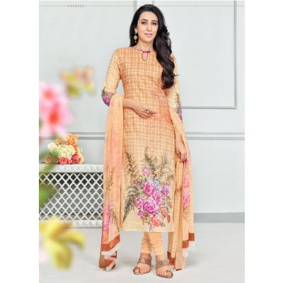 Yellow color Casual Salwar Kameez-Cotton Salwar Kameez