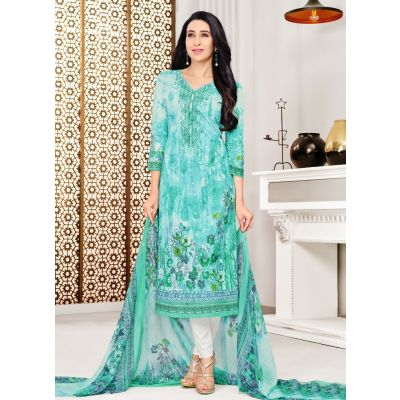 Blue color Casual Salwar Kameez-Cotton Salwar Kameez