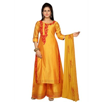 Orange color Party Wear Rmd Salwar-Other Salwar Kameez