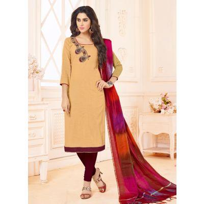 Off Whait color Casual Salwar Kameez-Cotton Salwar Kameez