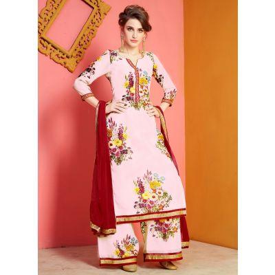 Pink color Plazzo Wear-Other Salwar Kameez