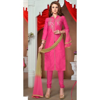 Womens Salwar Kameez Pink Color Straight Suits