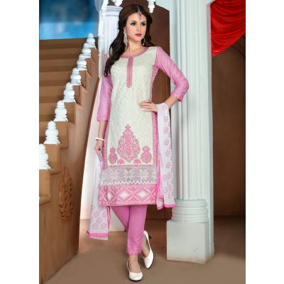 Womens Salwar Kameez White Color Straight Suits