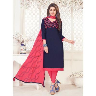 Women Slawar Kameez Blue Color Straight Suits