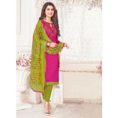 Women Slawar Kameez Pink Color Straight Suits
