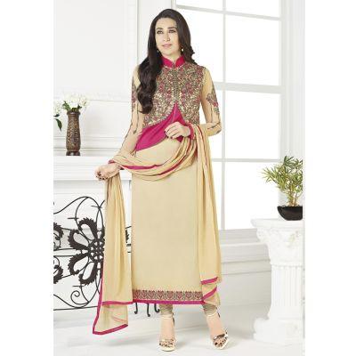 Women Salwar Kameez Off White color Jacket Style