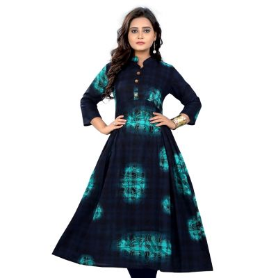 Women Ready Made Kurti Multicoloured Color Formal