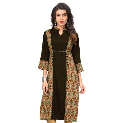 Women Ready Made Kurti Brown Color Formal