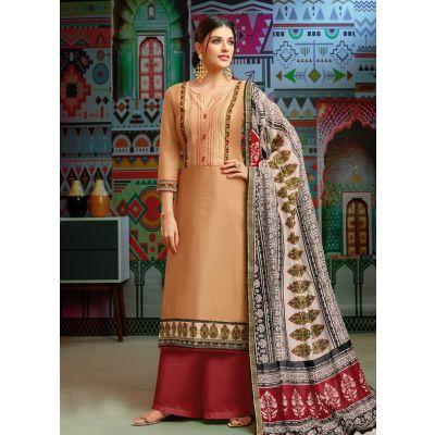 Women Salwar Kameez Off White color Casual