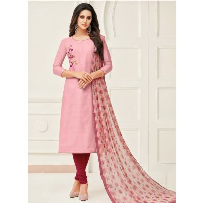 Women Salwar Kameez Pink Color Casual