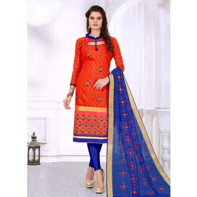 Salwar Kameez Women Patiyala Suita Orange color