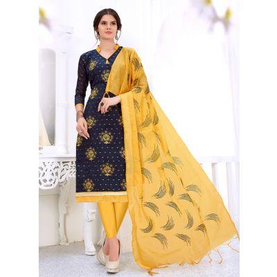 Salwar Kameez Women Patiyala Suita Blue color