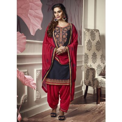 Women Salwar Kameez Blue color Patiyala Suita