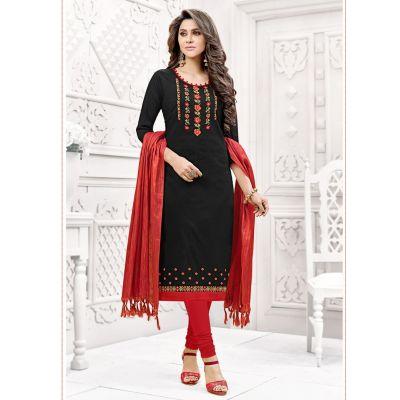 Women Salwar Kameez Black color Straight Suits