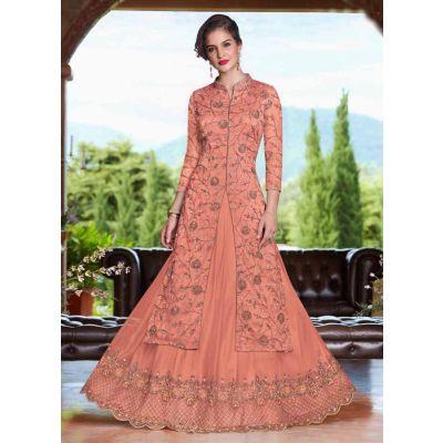 Women Salwar Kameez Orange color Net