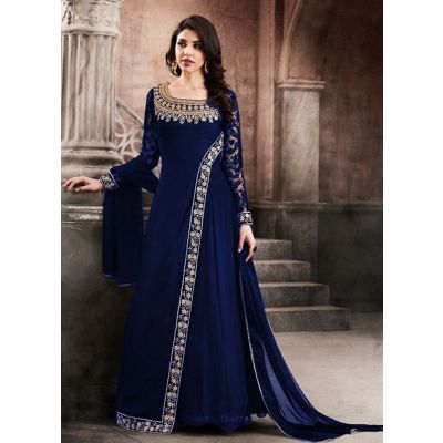 Women Salwar Kameez Blue color Georgette