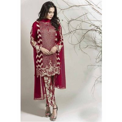 Women Salwar Kameez Maroon color Straight Suits