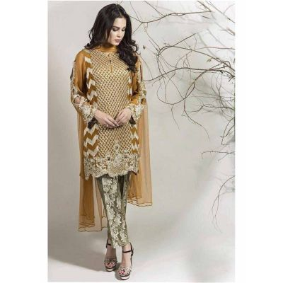 Women Salwar Kameez Gold color Straight Suits