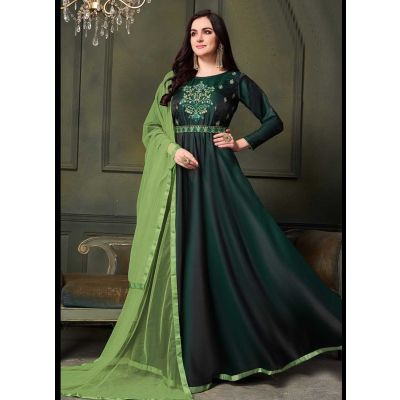 Women Gown Green color Designer