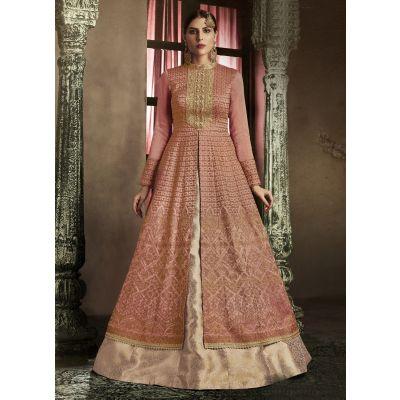 Red color Designer-Silk Salwar Kameez