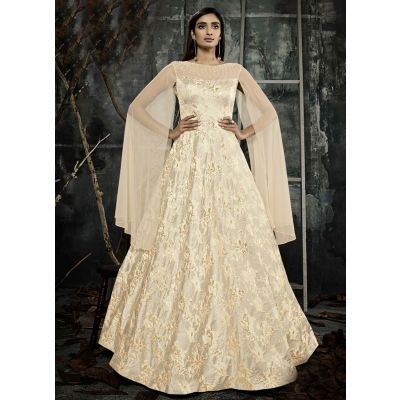 Women Gown Beige color Designer