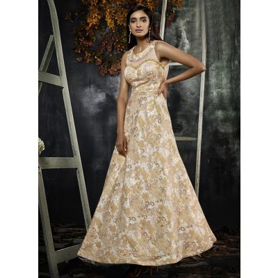 Women Gown Multicoloured color Designer