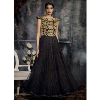 Women Gown Black color Designer