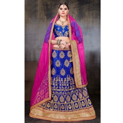 Women Lehnga Choli Blue color Designer