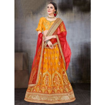 Women Lehnga Choli Yellow color Designer