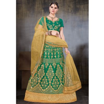 Women Lehnga Choli Green color Designer