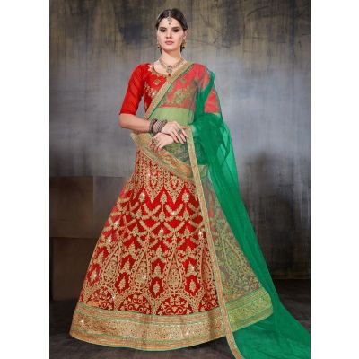 Women Lehnga Choli Red color Designer