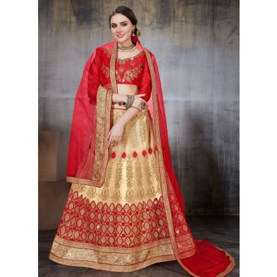Women Lehnga Choli Beige color Designer