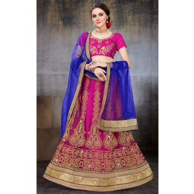 Women Lehnga Choli Pink color Designer