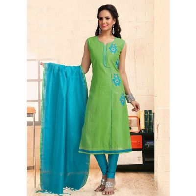 Women Ready Made Salwar Green color Party Wear