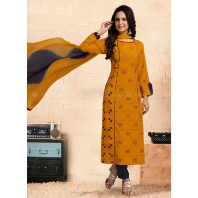 Women Ready Made Salwar Orange color Party Wear